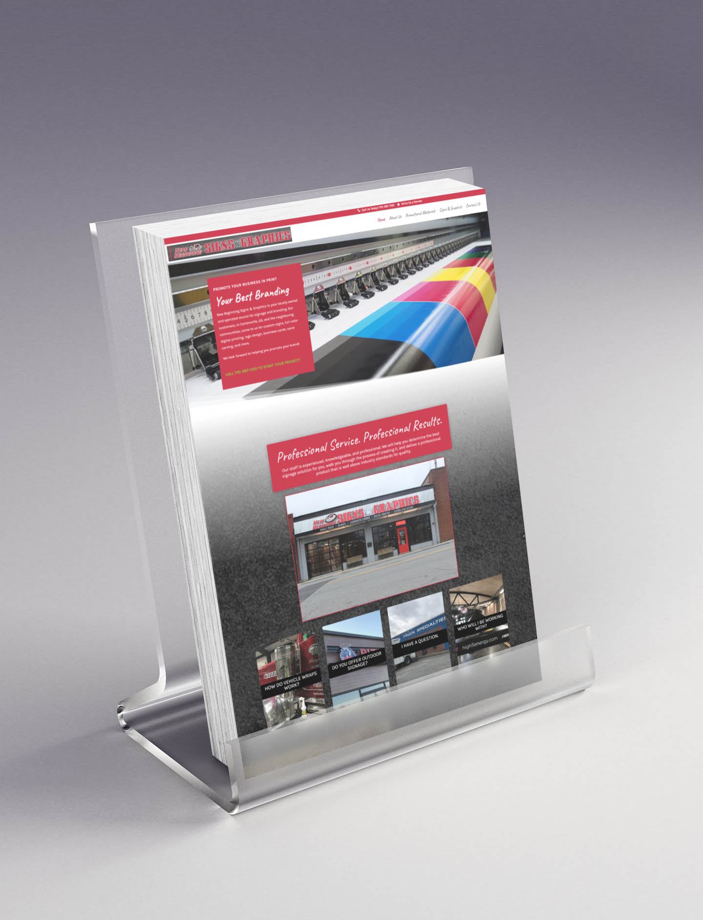 Signs and Graphics web design